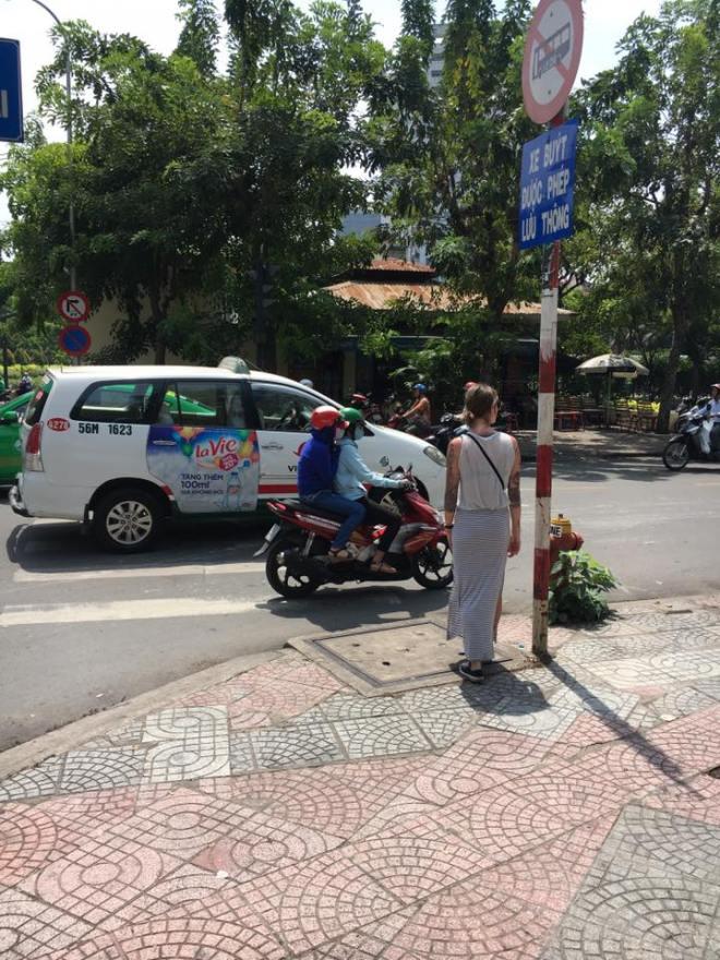Hanne op straat