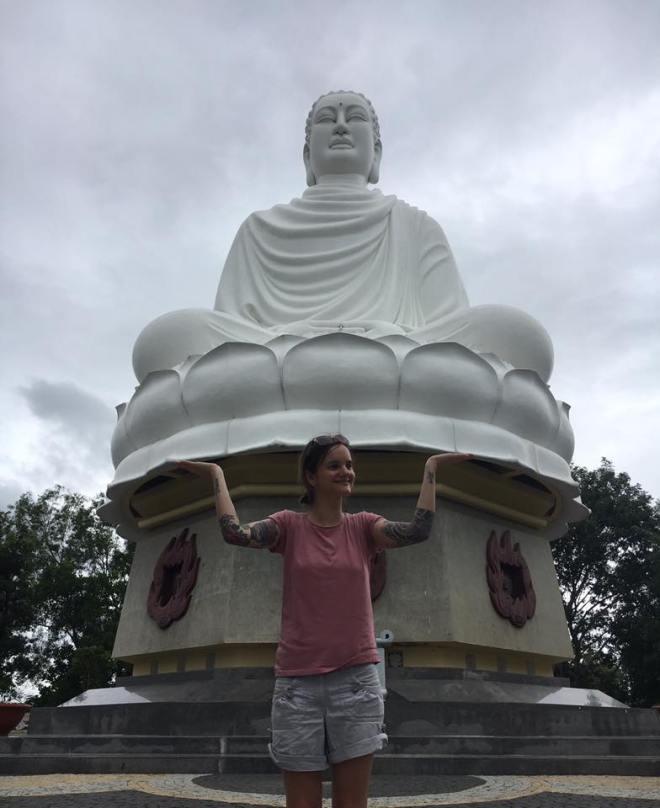 Witte Buddha